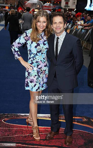 Director Zack Snyder and his wife Deborah Snyder attends the UK Premiere of 'Man of Steel' at Odeon Leicester Square on June 12 2013 in London England