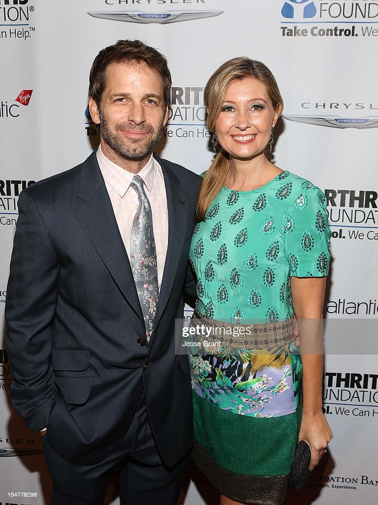 Director <a gi-track='captionPersonalityLinkClicked' href=/galleries/search?phrase=Zack+Snyder&family=editorial&specificpeople=834481 ng-click='$event.stopPropagation()'>Zack Snyder</a> and producer Deborah Snyder attend the Arthritis Foundation 'Commitment to a Cure' 2012 Awards Gala at The Beverly Hilton Hotel on October 25, 2012 in Beverly Hills, California.