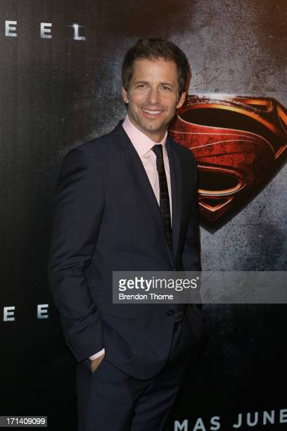 Director Zack Snyder arrives at the 'Man Of Steel' Australian premiere on June 24 2013 in Sydney Australia