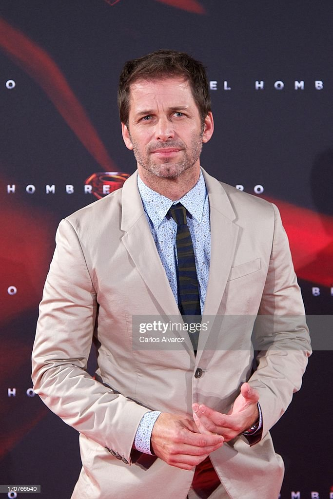 Director <a gi-track='captionPersonalityLinkClicked' href=/galleries/search?phrase=Zack+Snyder&family=editorial&specificpeople=834481 ng-click='$event.stopPropagation()'>Zack Snyder</a> attends the 'Man of Steel' (El Hombre de Acero) premiere at the Capitol cinema on June 17, 2013 in Madrid, Spain.