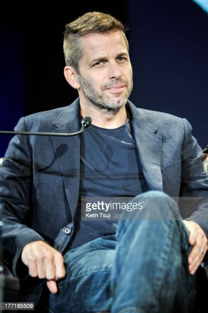 Director Zack Snyder attends the 'Man of Steel' press conference at the Grand Hyatt on August 22 2013 in Tokyo Japan