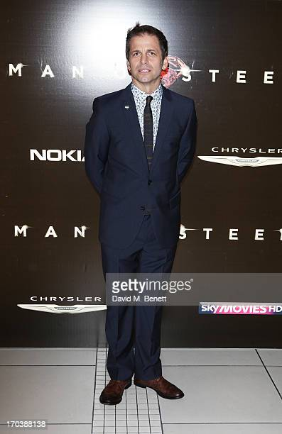 Director Zack Snyder attends the UK Premiere of 'Man of Steel' at Odeon Leicester Square on June 12 2013 in London England