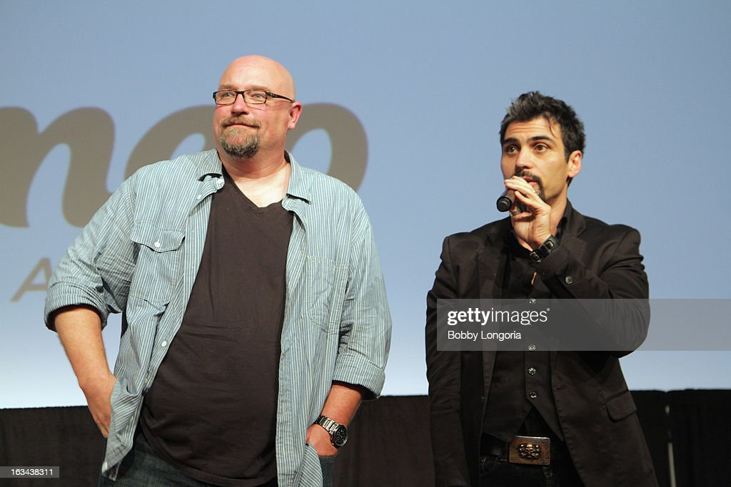 Director Zak Knutson and producer Joey Figueroa speak onstage at 'Milius' Q&A during the 2013 SXSW Music, Film + Interactive Festival at Austin Convention Center on March 9, 2013 in Austin, Texas.