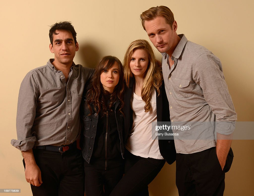 Director Zal Batmanglij and actors Ellen Page, Alexander Skarsgard and Brit Marling pose for a portrait during the 2013 Sundance Film Festival at the Getty Images Portrait Studio at Village at the Lift on January 20, 2013 in Park City, Utah.