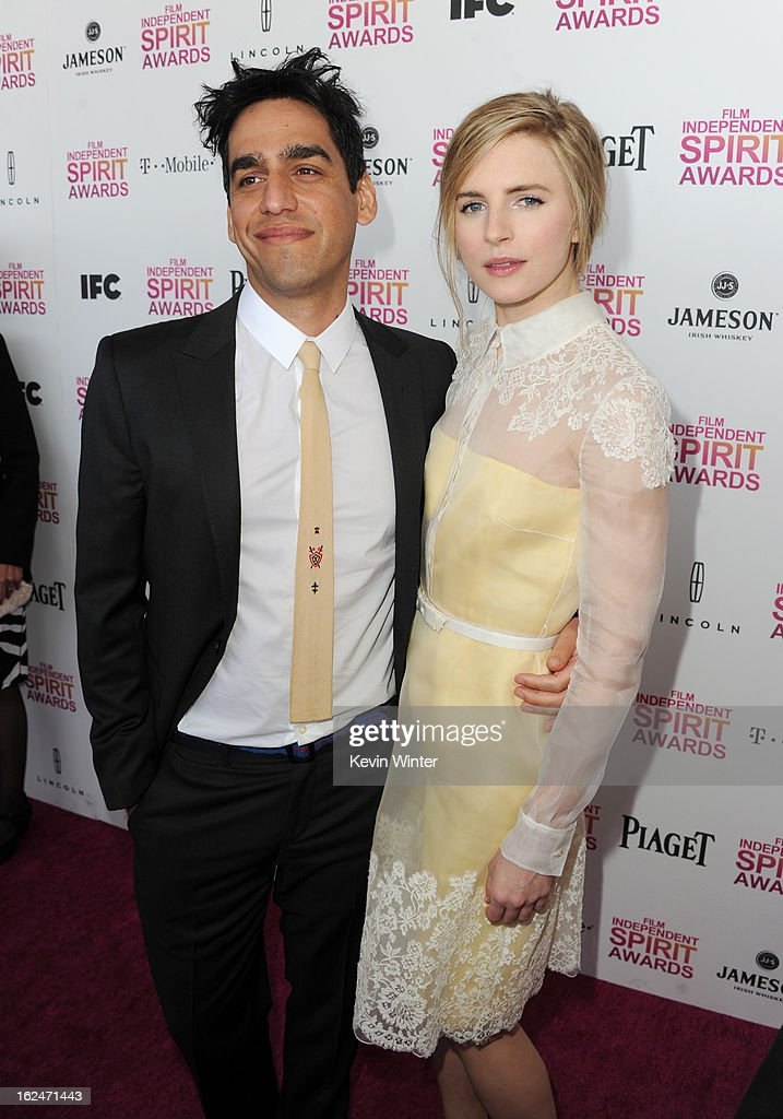 Director Zal Batmanglij and actress Brit Marling attend the 2013 Film Independent Spirit Awards at Santa Monica Beach on February 23, 2013 in Santa Monica, California.