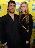 Director Zal Batmanglij and actress Britt Marling attends the premiere of 'The East' during the 2013 SXSW Music Film Interactive Festival at the...