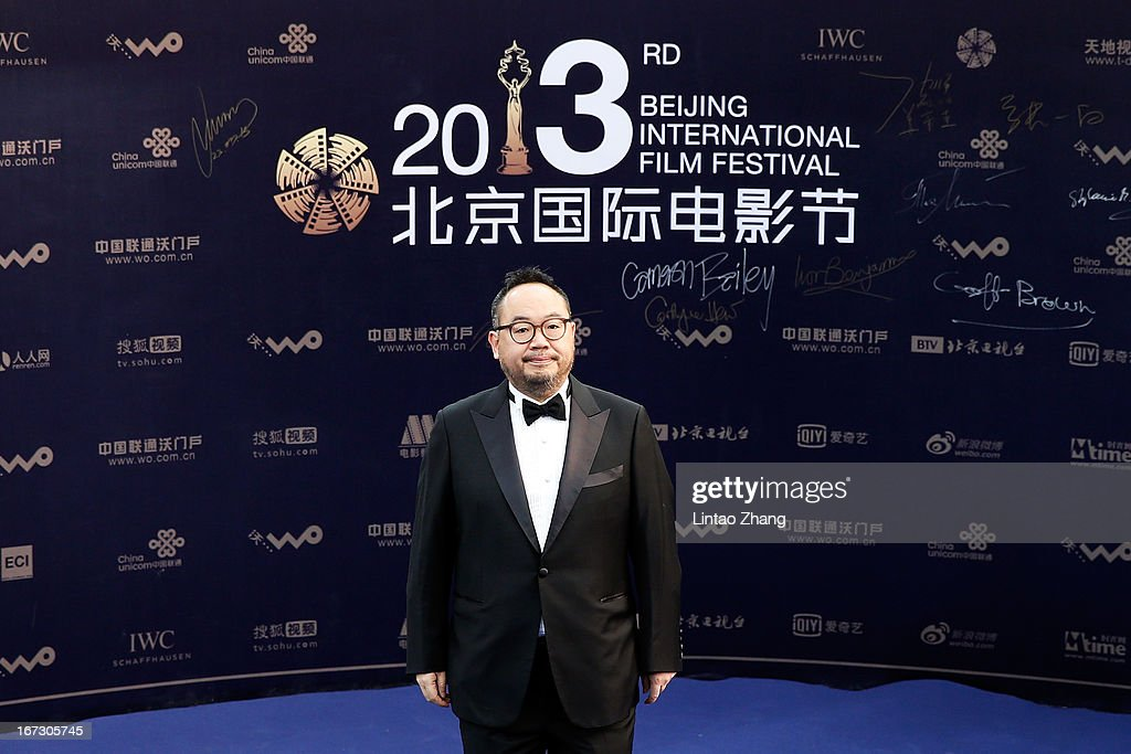 Director Zhang Yibai arrives at the closing ceremony red carpet during the 3rd Beijing International Film Festival at China National Convention Center on April 23, 2013 in Beijing, China.