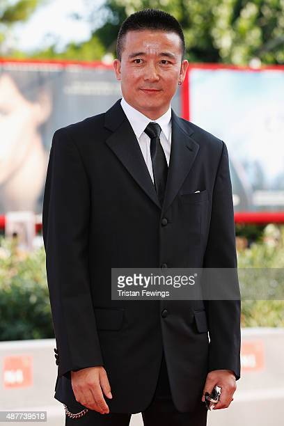 Director Zhao Liang attends a premiere for 'Behemoth' during the 72nd Venice Film Festival at Sala Grande on September 11 2015 in Venice Italy