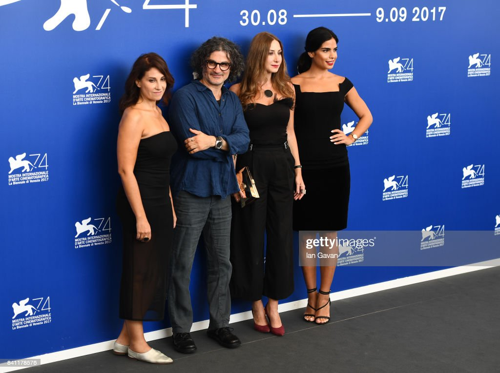 Director Ziad Doueiri, Diamond Bou Abboud and Rita Hayek (R) wearing a Jaeger-LeCoultre Rendez-Vous Night & Day watch attend the 'The Insult' photocall during the 74th Venice Film Festival at Sala Casino on August 31, 2017 in Venice, Italy.