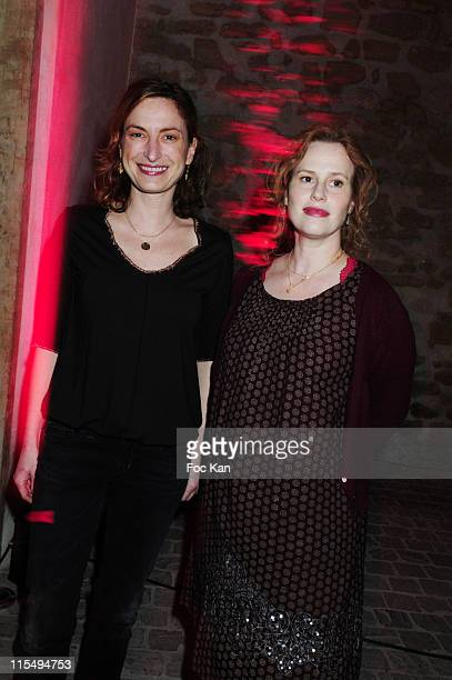 Director Zoe Cassavetes and actress Florence Darel attend the Zoe Cassavetes Pouvoir d' Evocation Lejaby Lingerie Video Clips Preview Cocktail at La...