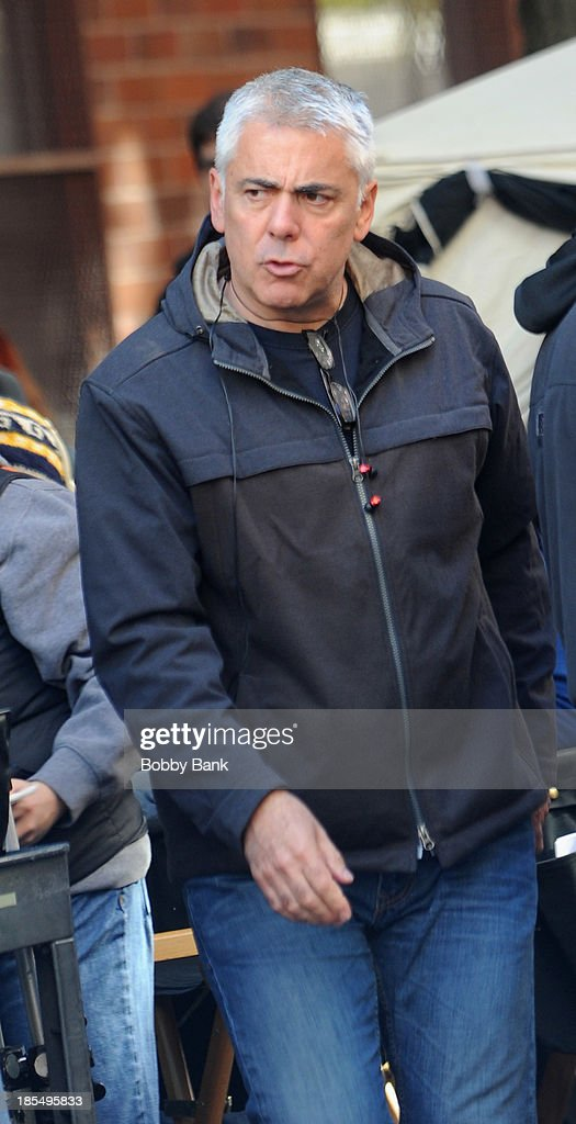 Director/actor <a gi-track='captionPersonalityLinkClicked' href=/galleries/search?phrase=Adam+Arkin&family=editorial&specificpeople=235326 ng-click='$event.stopPropagation()'>Adam Arkin</a> on the set of 'Nurse Jackie' on October 21, 2013 in New York City.