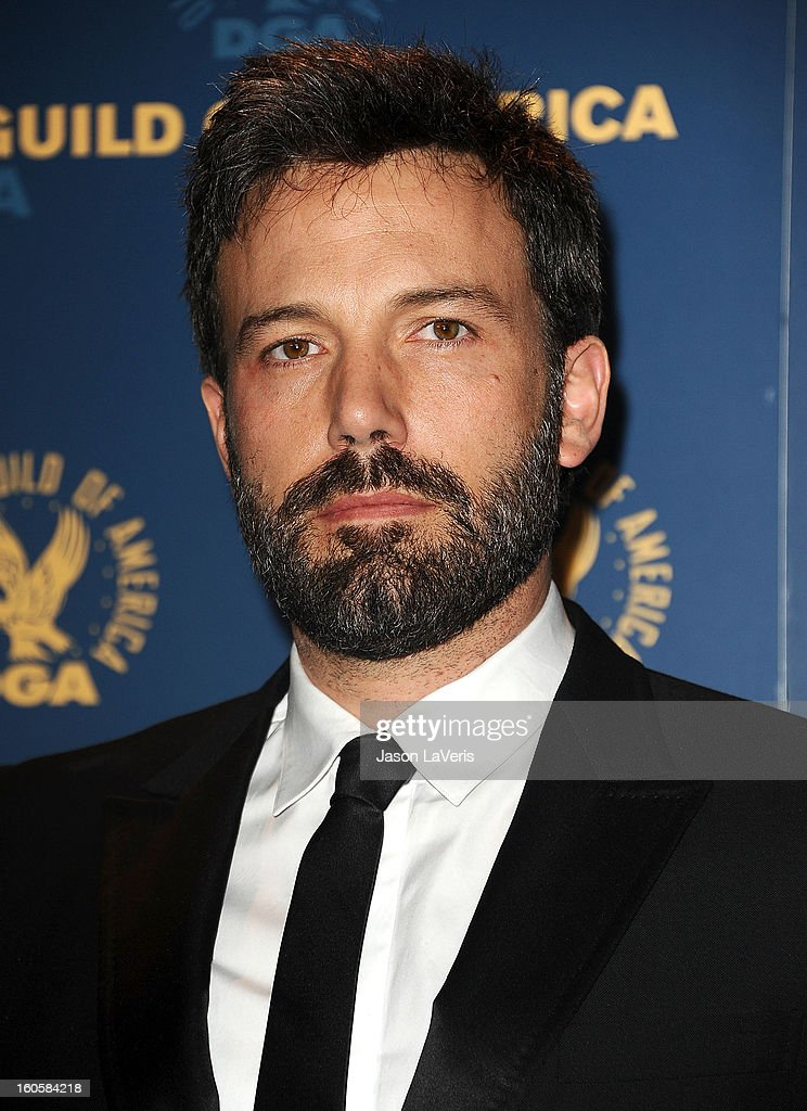 Director/actor <a gi-track='captionPersonalityLinkClicked' href=/galleries/search?phrase=Ben+Affleck&family=editorial&specificpeople=201856 ng-click='$event.stopPropagation()'>Ben Affleck</a> poses in the press room at the 65th annual Directors Guild Of America Awards at The Ray Dolby Ballroom at Hollywood & Highland Center on February 2, 2013 in Hollywood, California.