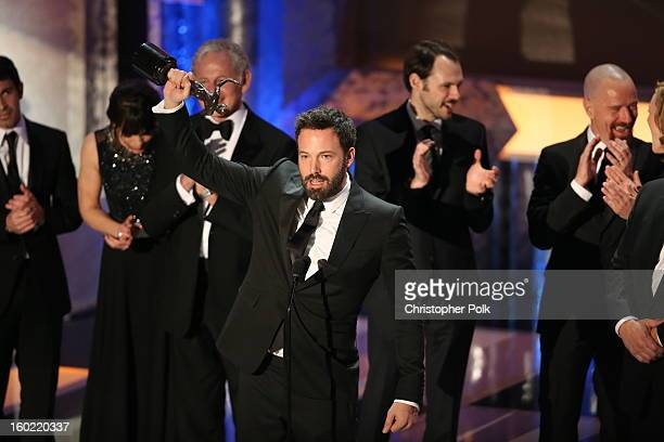 Director/Actor Ben Affleck speaks onstage at the 19th Annual Screen Actors Guild Awards at The Shrine Auditorium on January 27 2013 in Los Angeles...