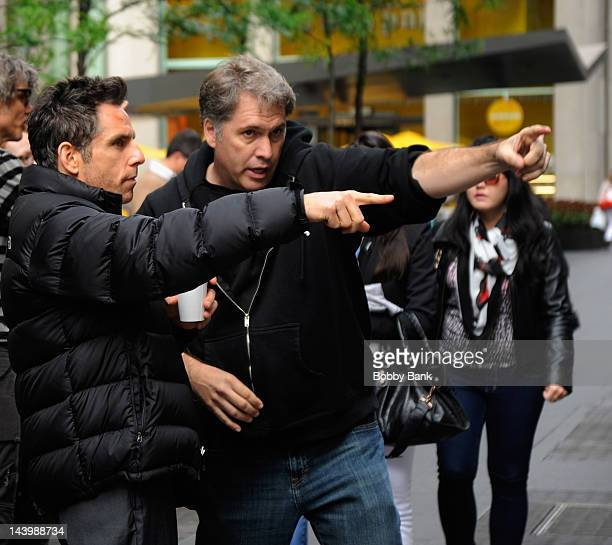 Director/actor Ben Stiller filming on location for 'The Secret Life Of Walter Mitty' on May 7 2012 in New York City