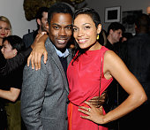 Director/actor Chris Rock and actress Rosario Dawson at the 'Top Five' world premiere party hosted by GREY GOOSE vodka and Soho House Toronto during...