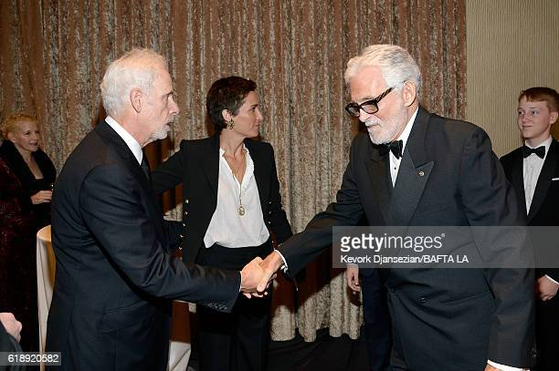 Director/actor Christopher Guest and actor David Hedison attend the 2016 AMD British Academy Britannia Awards presented by Jaguar Land Rover and...