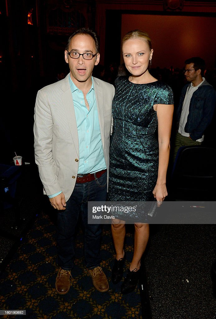 Director/actor David Wain (L) and actress Malin Akerman attend the 'Childrens Hospital' and 'NTSF:SD:SUV' screening event at the Vista Theatre on September 9, 2013 in Los Angeles, California. 24049_001_MD_0185.JPG
