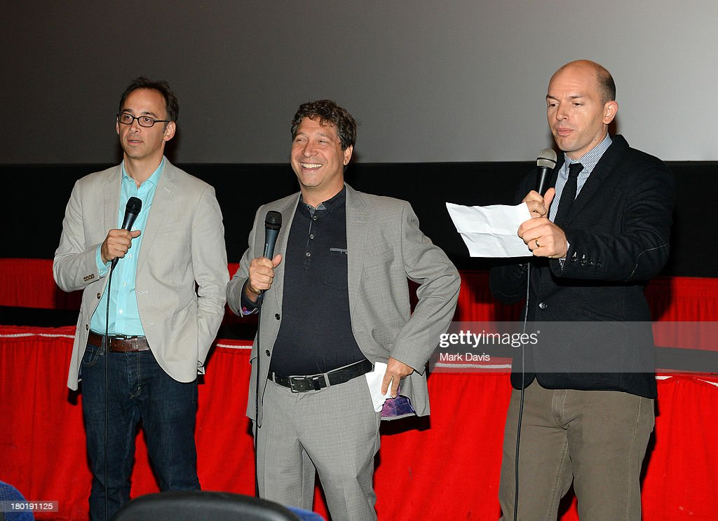 Director/actor David Wain, executive producer Jonathan Stern and actor Paul Scheer attend the 'Childrens Hospital' and 'NTSF:SD:SUV' screening event at the Vista Theatre on September 9, 2013 in Los Angeles, California. 24049_001_MD_0033.JPG