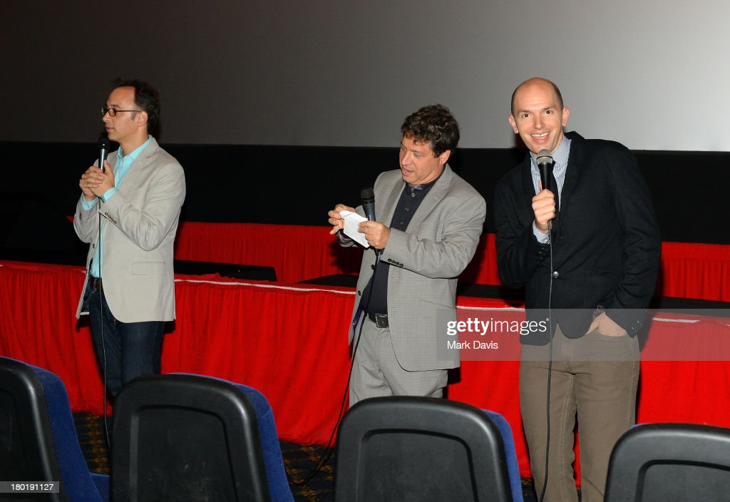 Director/actor David Wain, executive producer Jonathan Stern and actor Paul Scheer attend the 'Childrens Hospital' and 'NTSF:SD:SUV' screening event at the Vista Theatre on September 9, 2013 in Los Angeles, California. 24049_001_MD_0018.JPG