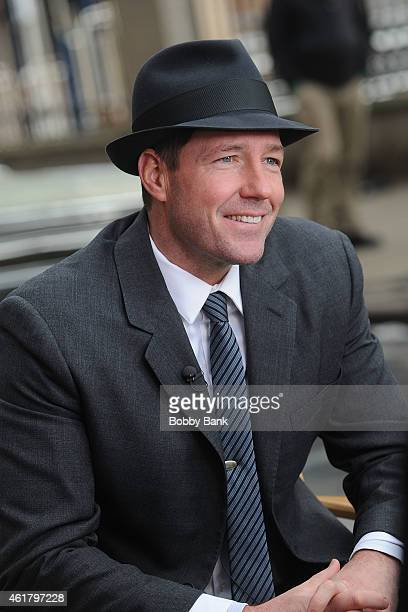 Director/actor Ed Burns on the set of the TNT drama 'Public Morals' on January 19 2015 in New York City