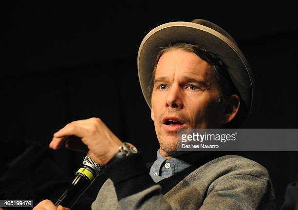 Director/actor Ethan Hawke speaks during the Q A for 'Seymour An Introduction' New York Screening at BAM Peter Jay Sharp Building on March 3 2015 in...