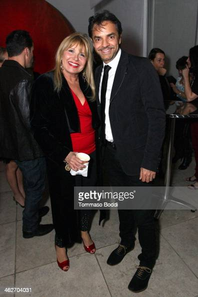 Director/Actor Eugenio Derbez and swimsuit designer Carol Wior attend the 'Instructions Not Included' screening and reception on January 14 2014 in...