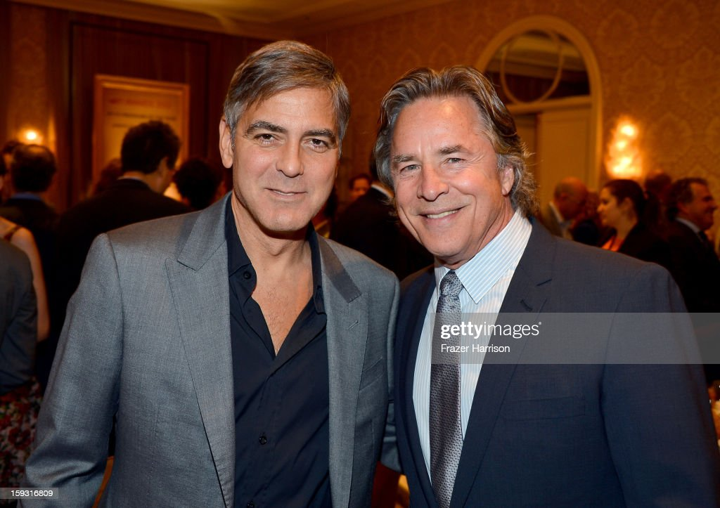 Director/actor George Clooney and Don Johnson attend the 13th Annual AFI Awards at Four Seasons Los Angeles at Beverly Hills on January 11, 2013 in Beverly Hills, California.