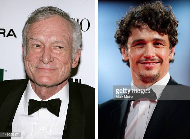 In this composite image a comparison has been made between Hugh Hefner and actor James Franco James Franco will reportedly play Hugh Hefner in a film...