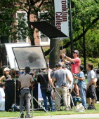 Director/actor Jason Bateman on the set of 'Family Fang' on July 22 2014 in Brooklyn New York