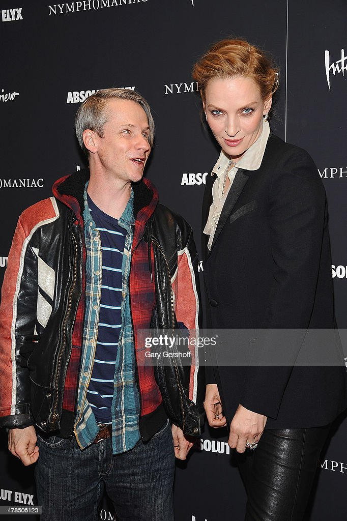 Director/actor <a gi-track='captionPersonalityLinkClicked' href=/galleries/search?phrase=John+Cameron+Mitchell&family=editorial&specificpeople=207124 ng-click='$event.stopPropagation()'>John Cameron Mitchell</a> (L) and actress <a gi-track='captionPersonalityLinkClicked' href=/galleries/search?phrase=Uma+Thurman&family=editorial&specificpeople=171973 ng-click='$event.stopPropagation()'>Uma Thurman</a> attend the 'Nymphomaniac: Volume I' screening at The Museum of Modern Art on March 13, 2014 in New York City.