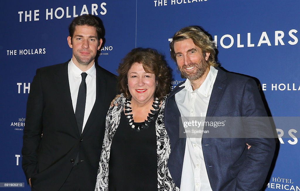 Director/actor John Krasinski actors Margo Martindale and Sharlto Copley attend the 'The Hollars' New York screening at Cinepolis Chelsea on August...