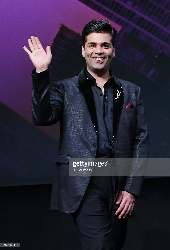 Director/actor Karan Johar takes the stage for the 2016 Toronto International Film Festival - In Conversation With... Karan Johar at Glenn Gould Studio at CBC on September 10, 2016 in Toronto, Canada.