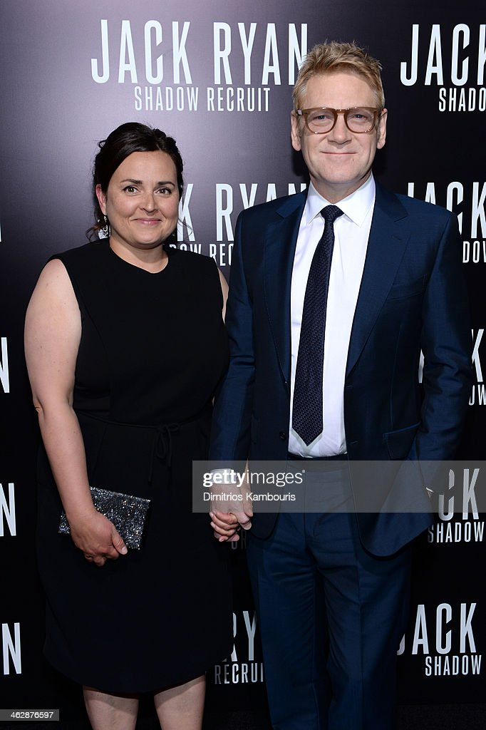 Director/actor <a gi-track='captionPersonalityLinkClicked' href=/galleries/search?phrase=Kenneth+Branagh&family=editorial&specificpeople=213618 ng-click='$event.stopPropagation()'>Kenneth Branagh</a> and Lindsay Brunnock attends the premiere of Paramount Pictures' 'Jack Ryan: Shadow Recruit' at TCL Chinese Theatre on January 15, 2014 in Hollywood, California.
