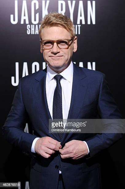 Director/actor Kenneth Branagh attends the premiere of Paramount Pictures' 'Jack Ryan Shadow Recruit' at TCL Chinese Theatre on January 15 2014 in...