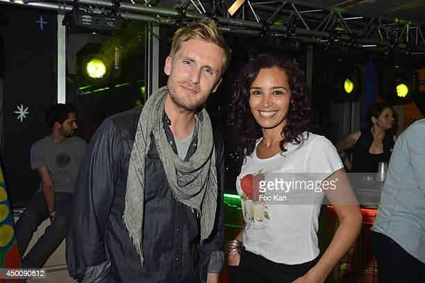 Director/actor Philippe Lacheau and Aida Touihri attend the 'Desperados Wild Club Party' At The 25eme Etage Ephemeral Bar Tour Pleyel Saint Denis on...