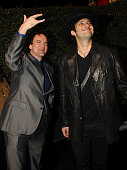 Director/actor Quentin Tarantino and director Robert Rodriguez arrives at the 2007 Spike TV Scream Awards at The Greek Theater on October 19 2007 in...