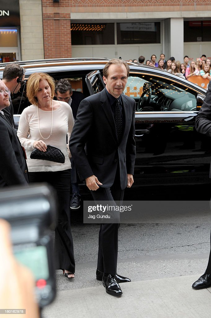 Director/actor <a gi-track='captionPersonalityLinkClicked' href=/galleries/search?phrase=Ralph+Fiennes&family=editorial&specificpeople=206461 ng-click='$event.stopPropagation()'>Ralph Fiennes</a> arrives at 'The Invisible Woman' Premiere during the 2013 Toronto International Film Festival at The Elgin on September 9, 2013 in Toronto, Canada.