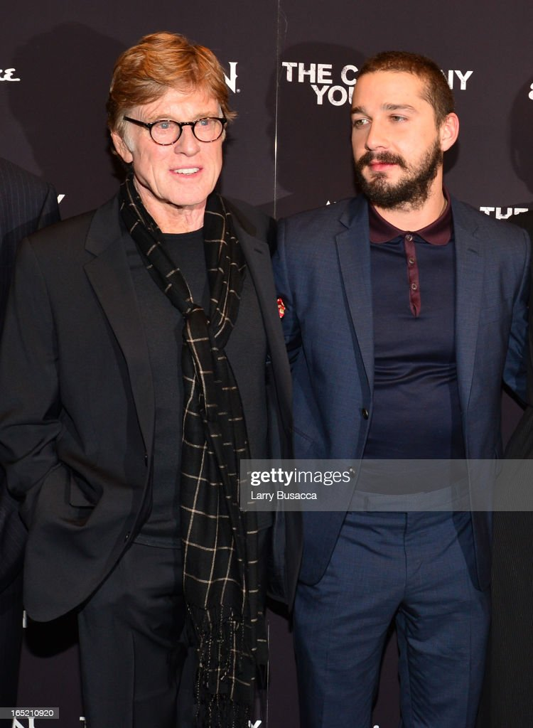 Director\Actor Robert Redford and Shia LaBeouf attend 'The Company You Keep' New York Premiere at The Museum of Modern Art on April 1, 2013 in New York City.