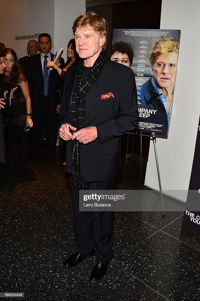 DirectorActor Robert Redford attends 'The Company You Keep' New York Premiere at The Museum of Modern Art on April 1 2013 in New York City