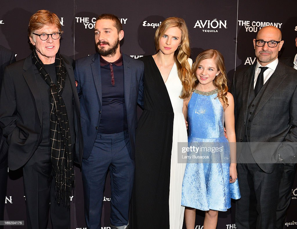 Director\Actor Robert Redford, Shia LaBeouf, Brit Marling, Jackie Evancho and Stanley Tucci attend 'The Company You Keep' New York Premiere at The Museum of Modern Art on April 1, 2013 in New York City.