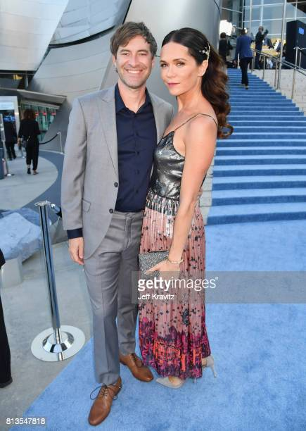 Director/actor/producer Mark Duplass and actress Katie Aselton at the Los Angeles Premiere for the seventh season of HBO's 'Game Of Thrones' at Walt...