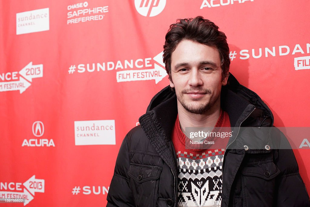 Director/Actor/Writer <a gi-track='captionPersonalityLinkClicked' href=/galleries/search?phrase=James+Franco&family=editorial&specificpeople=577480 ng-click='$event.stopPropagation()'>James Franco</a> attends 'Interior. Leather Bar' premiere during the 2013 Sundance Film Festival at Prospector Square on January 19, 2013 in Park City, Utah.