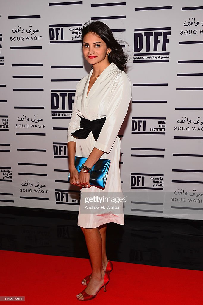DIrector/actress Ahd attends the Awards Ceremony at the Al Rayyan Theatre during the 2012 Doha Tribeca Film Festival on November 22, 2012 in Doha, Qatar.