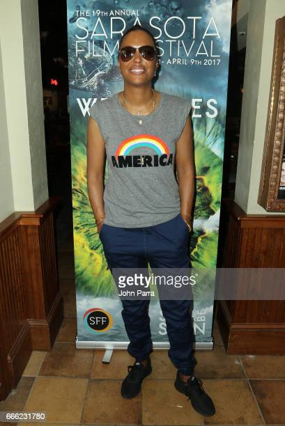 Director/actress Aisha Tyler attends a panel discussion during the 2017 Sarasota Film Festival on April 7 2017 in Sarasota Florida