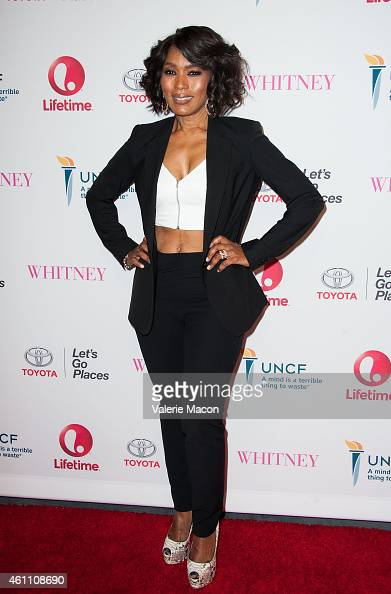 Director/actress Angela Bassett arrives at the Premiere Of Lifetime's 'Whitney' at The Paley Center for Media on January 6 2015 in Beverly Hills...