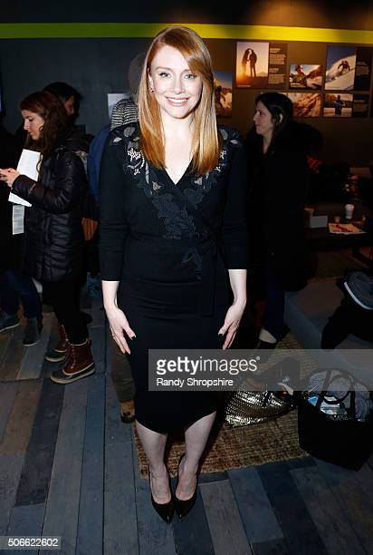 Director/actress Bryce Dallas Howard attends the Eddie Bauer Adventure House during the 2016 Sundance Film Festival at Village at The Lift on January...