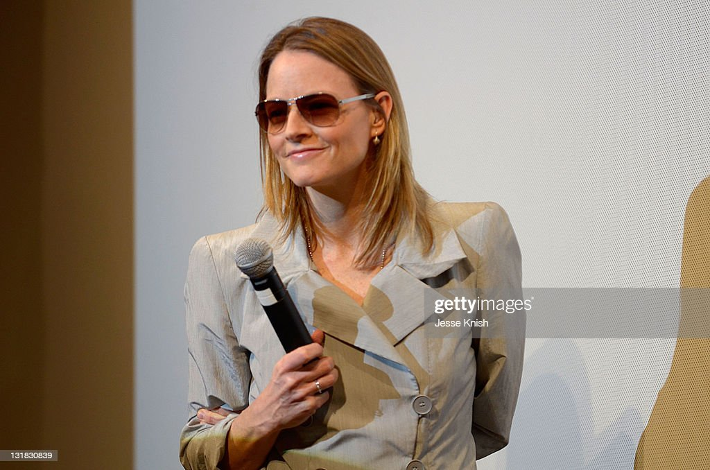 Director/actress Jodie Foster speaks onstage at the 2011 SXSW Music Film Interactive Festival 'The Beaver' Premiere at Paramount Theater on March 16...