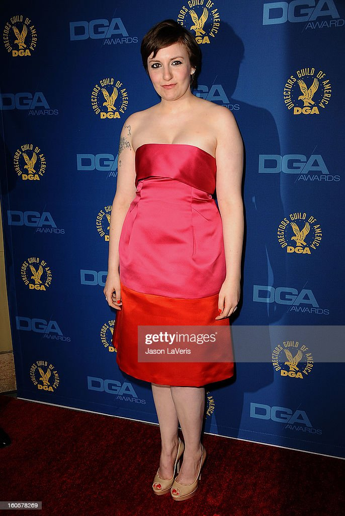 Director/actress Lena Dunham attends the 65th annual Directors Guild Of America Awards at The Ray Dolby Ballroom at Hollywood & Highland Center on February 2, 2013 in Hollywood, California.