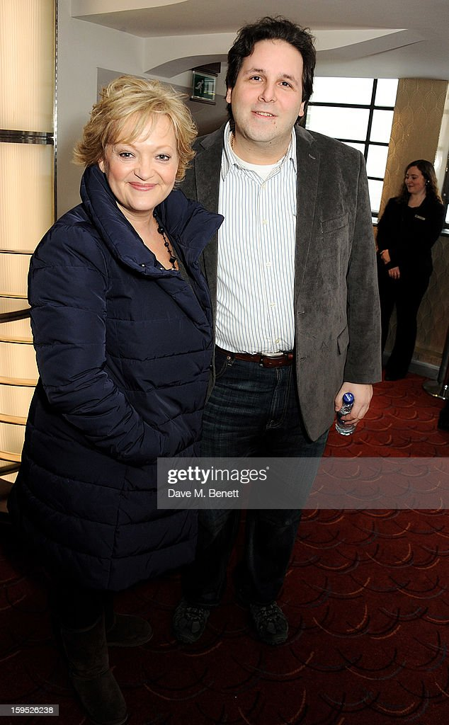 Director/Actress Maria Friedman (L) and Artistic Director of the Menier Chocolate Factory David Babani attend the 2013 Critics' Circle Theatre Awards at the Prince Of Wales Theatre on January 15, 2013 in London, England.