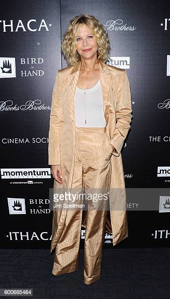 Director/actress Meg Ryan attends the Screening Of Momentum Pictures' 'Ithaca' hosted by The Cinema Society with Brooks Brothers and Bird In Hand at...